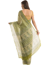 Abstract Floral Cotton Printed Saree By Meena Bazaar