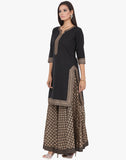 Khari Printed Cotton Kurti With Long Skirt By Meena Bazaar