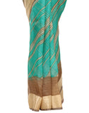 Stripe Printed Cotton Kota Saree By Meena Bazaar