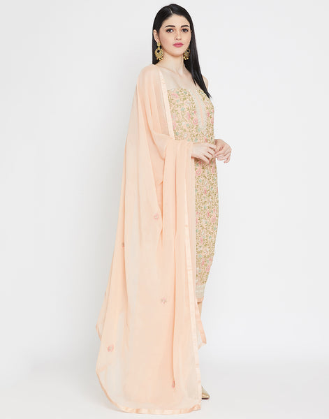 Peach Georgette Suit Set