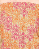 Unstitched All-over thread Embroidered Cotton Suit By Meena Bazaar