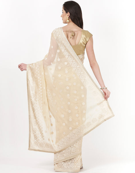 Embroidered Art Chiffon Saree