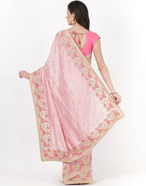 Embroidered Art Tussar Saree