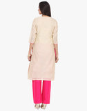 Unstitched Cotton Tissue Suit With Gotta Patti Embroidery By Meena Bazaar