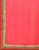 Half And Half Net Saree With Zari Embroidery By Meena Bazaar