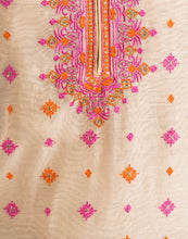 Unstitched Cotton Chanderi Suit With All-over Thread Embroidery By Meena Bazaar