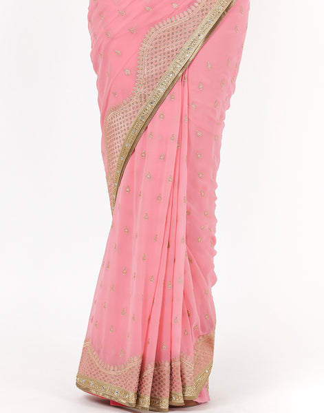 Embroidered Art Georgette Saree