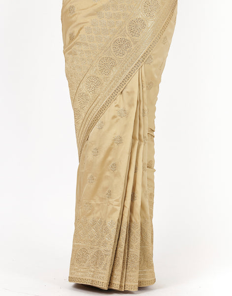 Embroidered Art Crape Saree