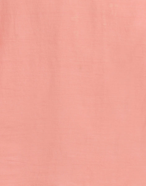 Peach Pink Cotton Chanderi Suit Set