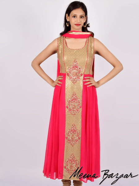 Georgette Anarkali Suit with Sequence Work