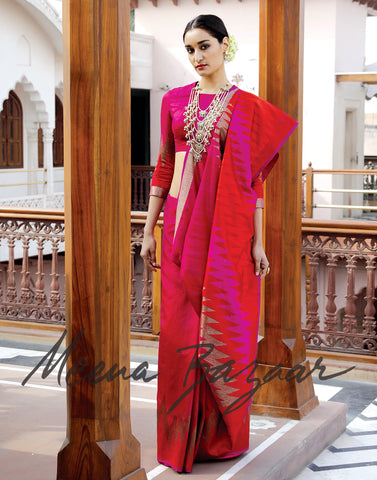 Banarasi silk saree with woven border