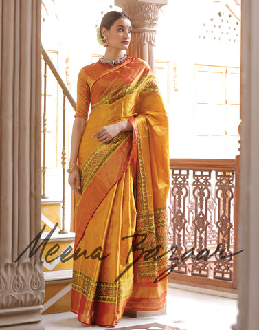 Hand-loom silk saree.