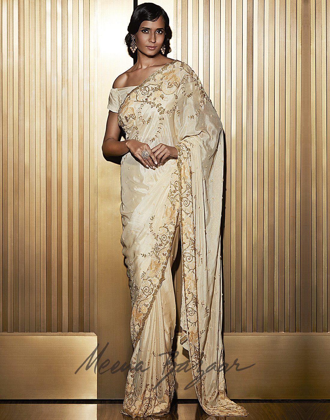 Embellished Shimmer Georgette Saree