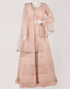 Light Peach Georgette Salwar Kameez
