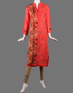 Printed georgette kurti with stone detailing