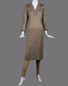 Cotton chanderi kurti with floral print