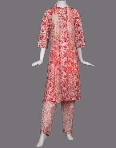cotton floral printed suit set