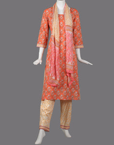 cotton printed suit set