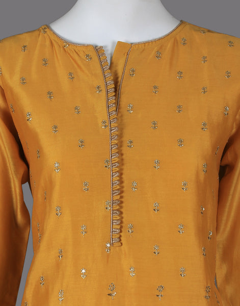 COTTON CHANDERI Straight SUIT SET WITH golden booti