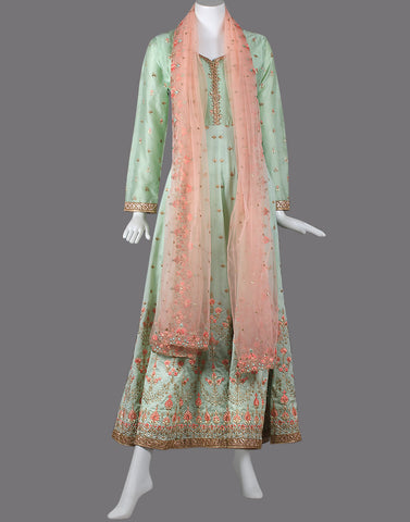 Anarkali Suit set with golden embroidery