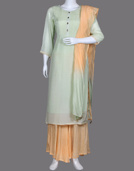 COTTON KURTA SHARARA SET
