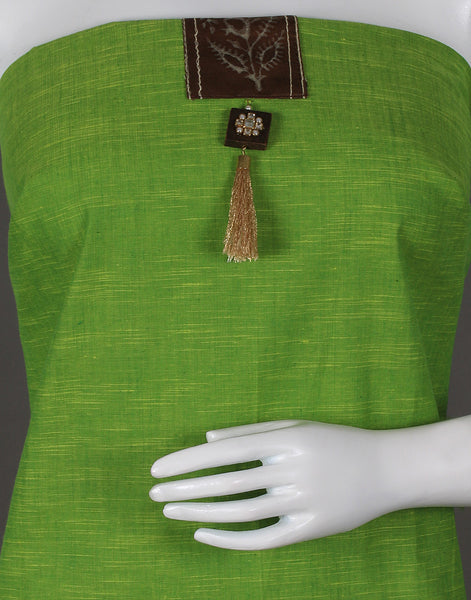 Lime Green Cotton Suit Set