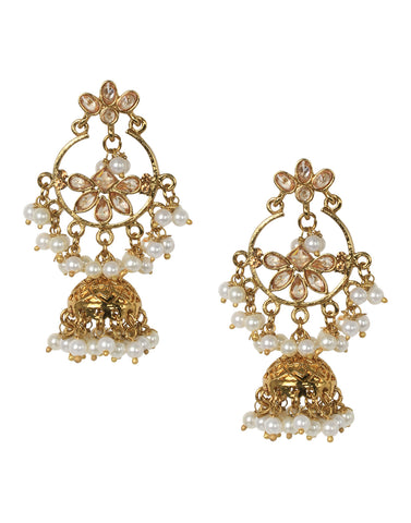 Meena Bazaar Kundan Earrings