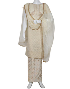 Cream Cotton Suit Set