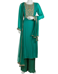 Lake Blue Georgette Salwar Kameez
