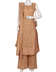 Peach Cotton Salwar Kameez