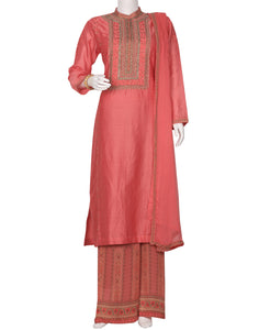 Rose Cotton Chanderi Salwar Kameez