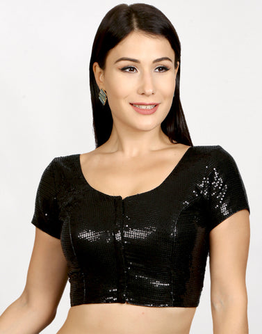 Black Sequence Blouse