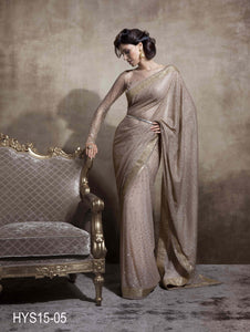 Embellished Half & Half Net Saree