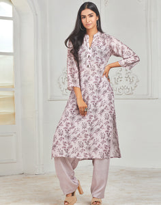Hyacinth Cotton Kurti