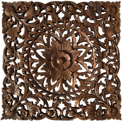 "Medium Carved Wood Decor 13""-30"""