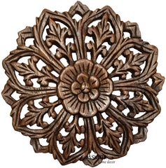 "Small Carved Wood Wall Decor 5""-12"""
