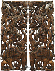 "Large Carved Wood Wall Decor 31""-48"""