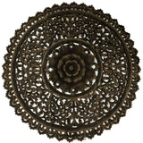 "36"" large round carved wood wall decor panels"