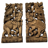 Elephant wod wall scupture wall art