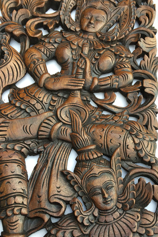 Wood Carved Wall Decor best quality wall decor. traditional thai carved teak wood wall