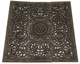 wood carved wall decor rustic wall panels 3 pcs set