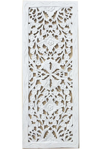 Wood Carved Wall Decor floral wood carved wall panel. wood wall decor for sale – asiana