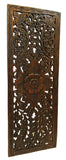 "Floral Wood Carved Wall Panel. Wall Hanging. Size 35.5""x13.5"" Available Color Options"