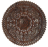 3' round carved wood wall panels