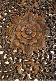 "Elegant Medallion Wood Carved Wall Plaque. Round Wood Carved Floral Wall Art. Asian Home Decor Wood Wall Panels. Wall Hangings. Wood Wall Decor. Size 36"" Color Options Available"