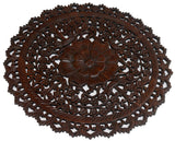 2' round wood wall art decor floral