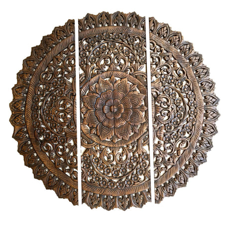 Carved Wall Art elegant wood carved wall plaque.floral wood wall panels – asiana
