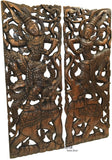 thai Elephant wod wall scupture wall art living room wall panels