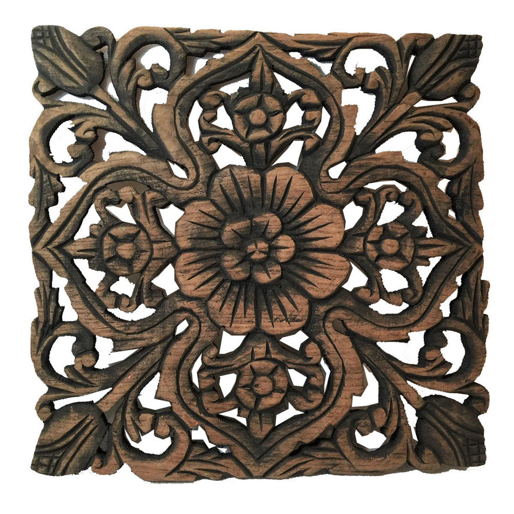 Floral Wood Wall Plaques Rustic Wall Decor