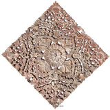 "Floral Wood Wall Hanging. Wood Carving Decorative Wall Art Plaque. 24""x24""x0.5"" Color Options Available"